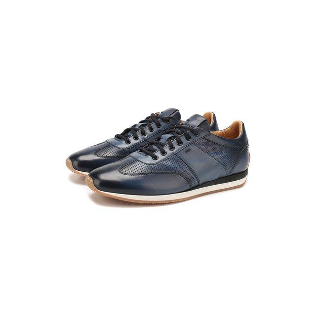 Кожаные кроссовки Santoni — Кожаные кроссовки