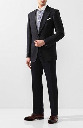 Мужские кожаные дерби SANTONI бордового цвета, арт. MCC017026MC3HVVDB54 | Фото 2