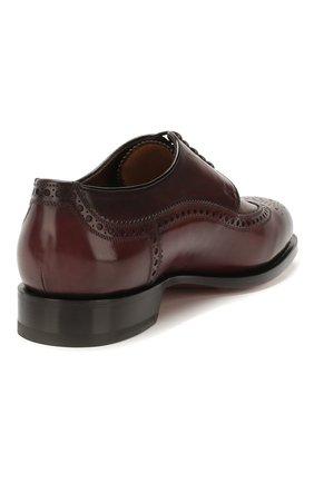 Мужские кожаные дерби SANTONI бордового цвета, арт. MCC017026MC3HVVDB54 | Фото 4