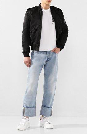 Мужские кожаные кеды wing GIVENCHY белого цвета, арт. BH002KH0KP | Фото 2