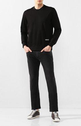 Мужские замшевые кеды superstar GOLDEN GOOSE DELUXE BRAND темно-серого цвета, арт. G36MS590.T73 | Фото 2