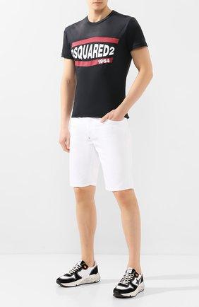 Мужские комбинированные кроссовки running sole GOLDEN GOOSE DELUXE BRAND черно-белого цвета, арт. G36MS963.07 | Фото 2