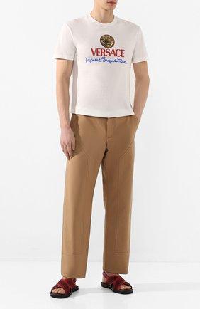 Мужские комбинированные сандалии ALEXANDER MCQUEEN красного цвета, арт. 604275/WHRWC | Фото 2