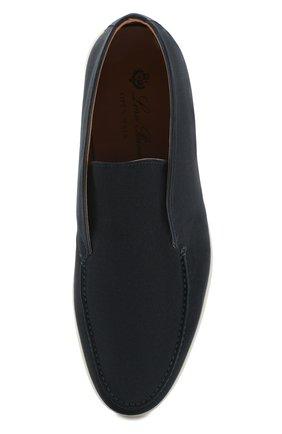 Мужские замшевые ботинки open walk LORO PIANA темно-синего цвета, арт. FAB4368   Фото 5 (Мужское Кросс-КТ: Ботинки-обувь; Материал внутренний: Натуральная кожа; Подошва: Плоская; Материал внешний: Замша)