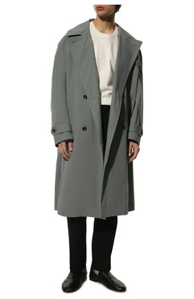 Мужские кожаные слиперы BOTTEGA VENETA черного цвета, арт. 620304/VBTR0 | Фото 2 (Материал внутренний: Натуральная кожа; Мужское Кросс-КТ: Лоферы-обувь; Стили: Кэжуэл)