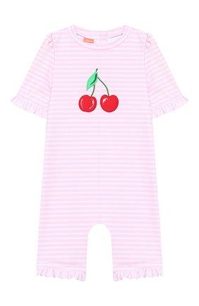 Детского плавательный комбинезон SUNUVA розового цвета, арт. S2033/1-6 | Фото 1