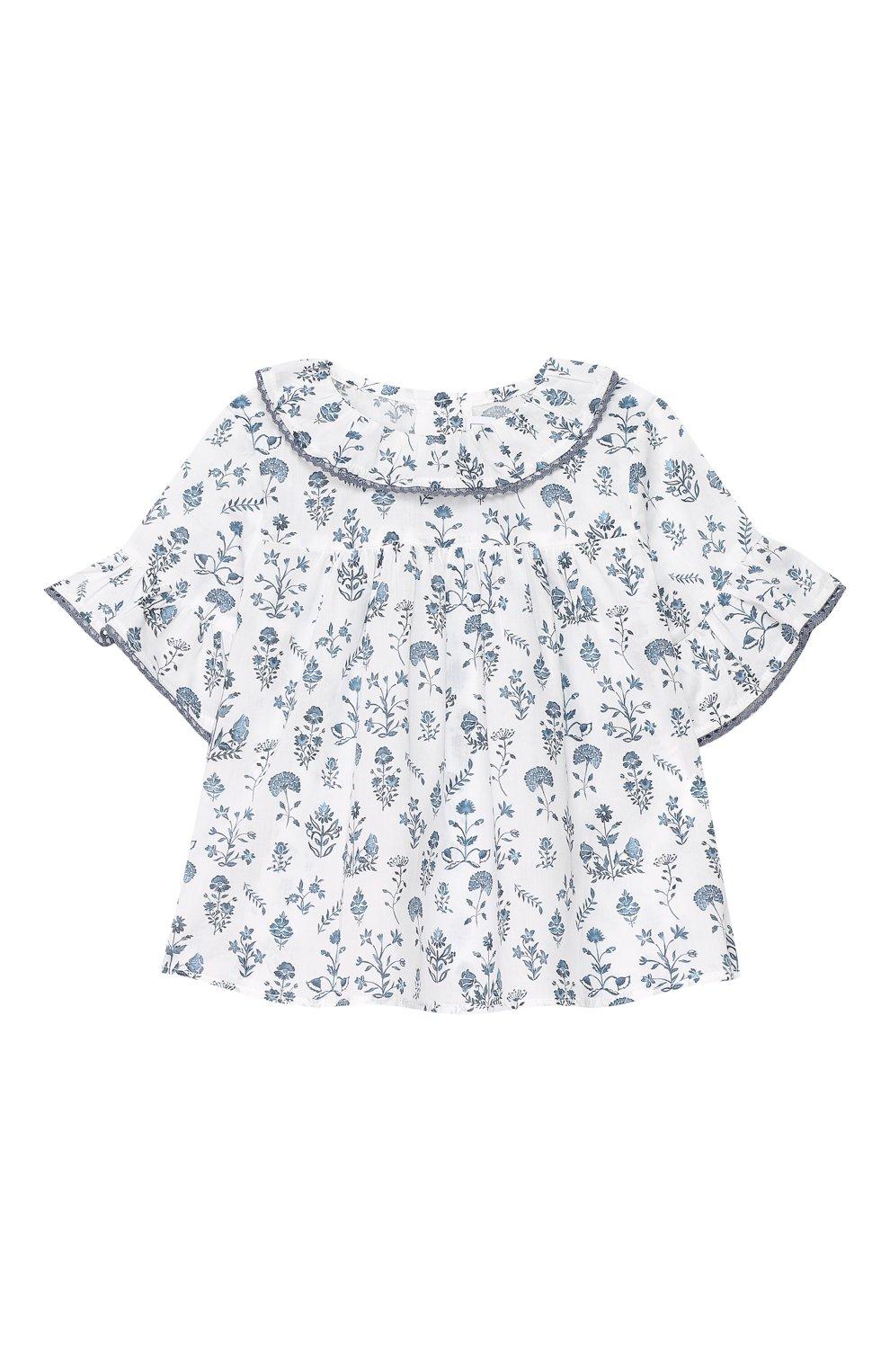 Детский хлопковая блуза TARTINE ET CHOCOLAT белого цвета, арт. TQ12001/18M-3A | Фото 1