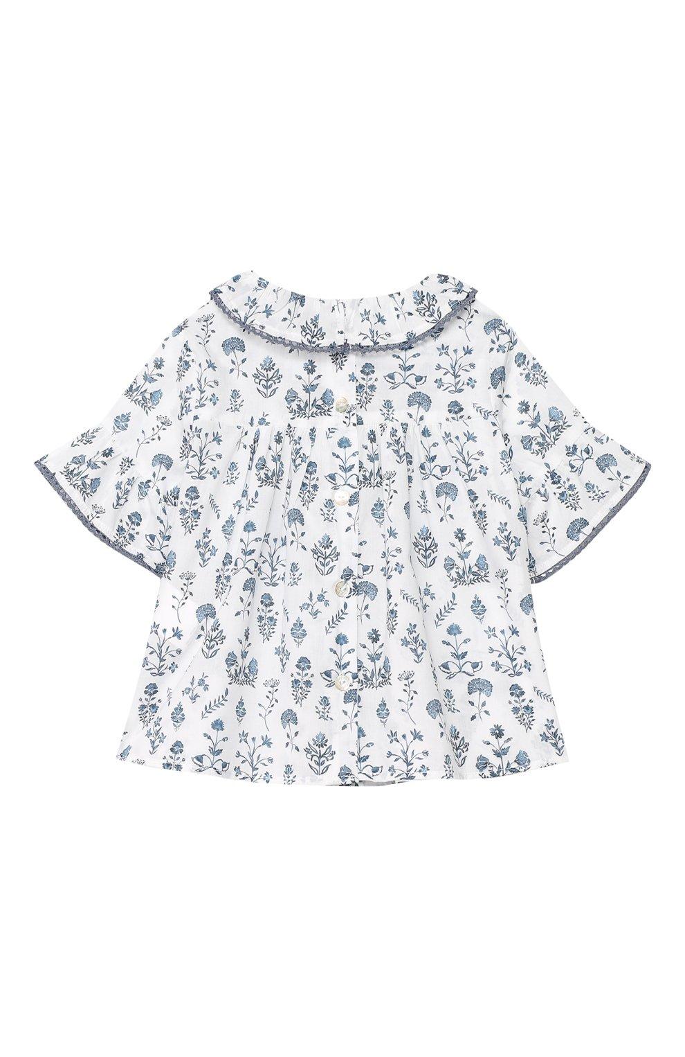 Детский хлопковая блуза TARTINE ET CHOCOLAT белого цвета, арт. TQ12001/18M-3A | Фото 2
