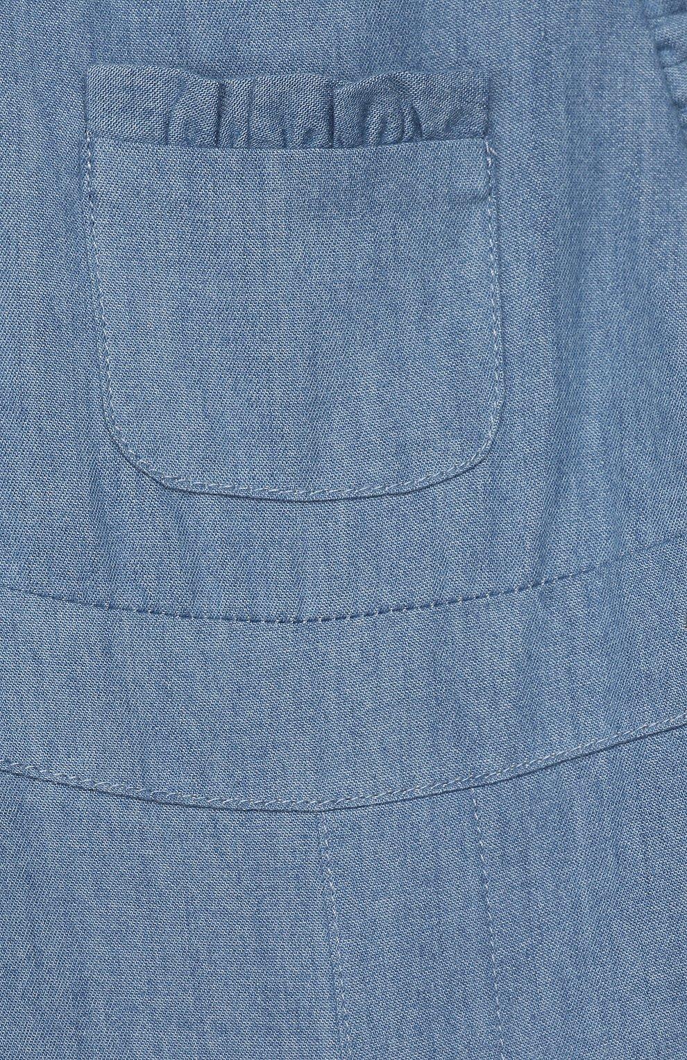 Детский хлопковый комбинезон TARTINE ET CHOCOLAT синего цвета, арт. TQ21011/1M-1A   Фото 3