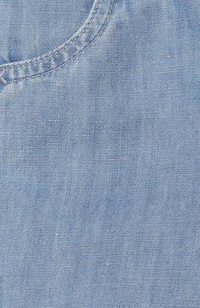 Детские шорты из хлопка и льна TARTINE ET CHOCOLAT голубого цвета, арт. TQ26111/18M-3A | Фото 3