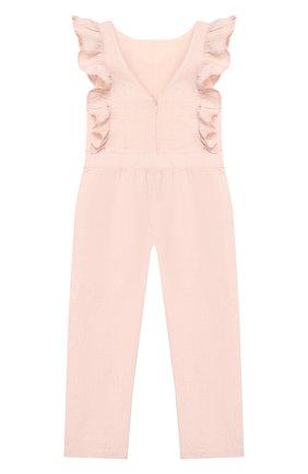 Детский льняной комбинезон TARTINE ET CHOCOLAT светло-розового цвета, арт. TQ32002 | Фото 2