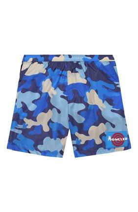 Детские плавки-шорты MONCLER синего цвета, арт. F1-954-2C711-20-539UZ/12-14A | Фото 1