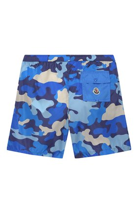 Детские плавки-шорты MONCLER синего цвета, арт. F1-954-2C711-20-539UZ/12-14A | Фото 2