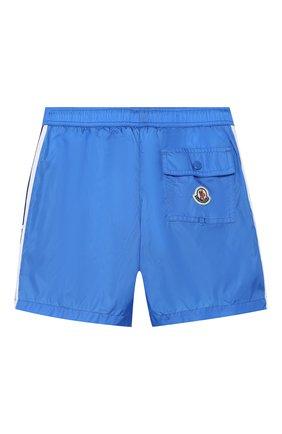 Детские плавки-шорты MONCLER голубого цвета, арт. F1-954-2C702-20-53326/4-6A | Фото 2