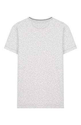 Детская хлопковая футболка BRUNELLO CUCINELLI серого цвета, арт. B0B13T110C   Фото 2