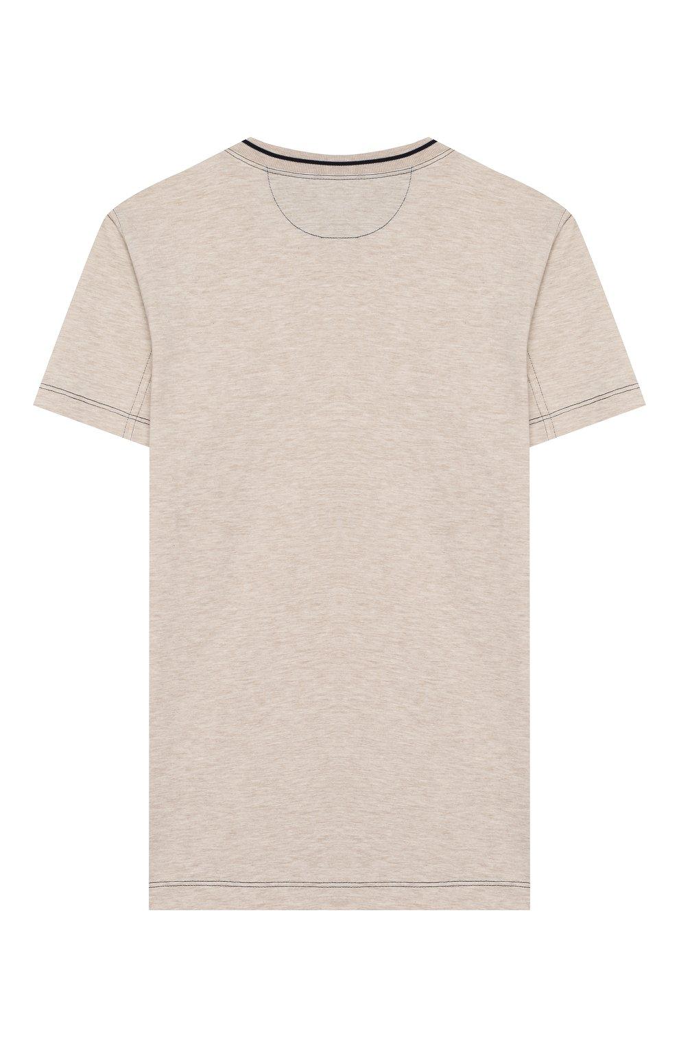 Детская хлопковая футболка BRUNELLO CUCINELLI бежевого цвета, арт. B0B13T110C | Фото 2