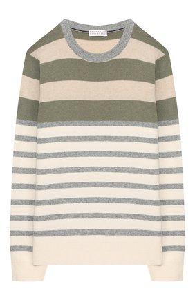 Детский шерстяной пуловер BRUNELLO CUCINELLI разноцветного цвета, арт. B36M10100A   Фото 1