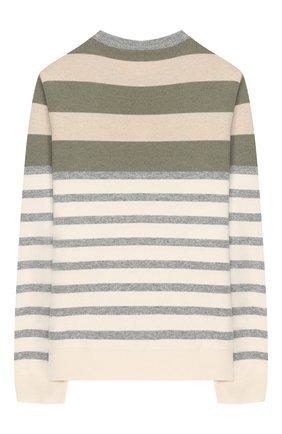 Детский шерстяной пуловер BRUNELLO CUCINELLI разноцветного цвета, арт. B36M10100A   Фото 2