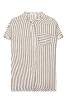 Детское шелковая блузка BRUNELLO CUCINELLI бежевого цвета, арт. BF771C200A | Фото 1