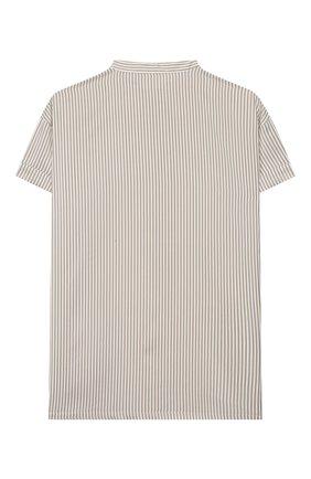 Детское шелковая блузка BRUNELLO CUCINELLI бежевого цвета, арт. BF771C200A | Фото 2