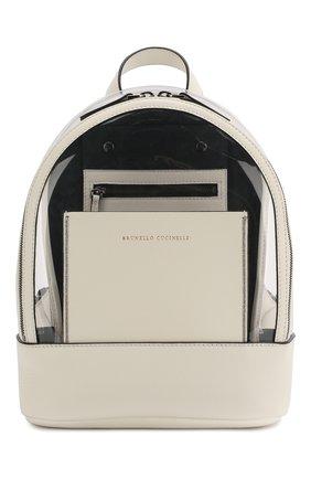 Детская кожаный рюкзак BRUNELLO CUCINELLI прозрачного цвета, арт. BH942B004 | Фото 1