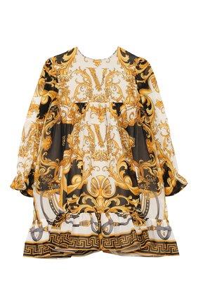 Женский шелковое платье VERSACE разноцветного цвета, арт. YA000129/A233324 | Фото 1
