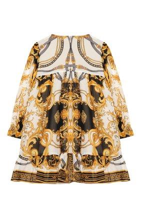 Женский шелковое платье VERSACE разноцветного цвета, арт. YA000129/A233324 | Фото 2