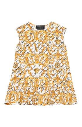 Женский хлопковое платье VERSACE золотого цвета, арт. YA000144/A233329 | Фото 1