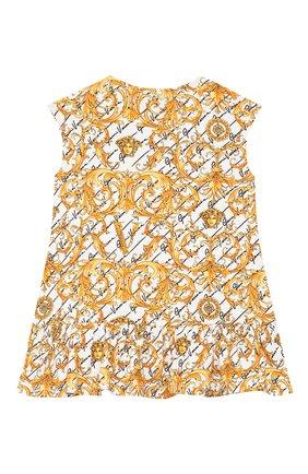 Женский хлопковое платье VERSACE золотого цвета, арт. YA000144/A233329 | Фото 2