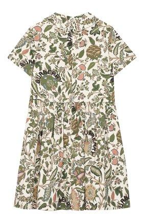 Детское хлопковое платье BURBERRY зеленого цвета, арт. 8026382   Фото 2