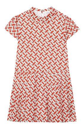 Детское шелковое платье BURBERRY разноцветного цвета, арт. 8026381   Фото 1