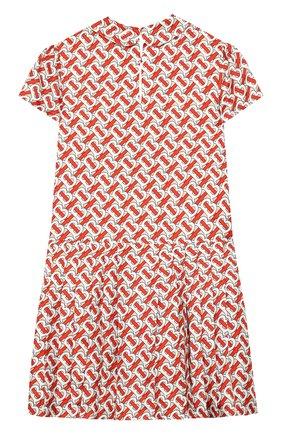 Детское шелковое платье BURBERRY разноцветного цвета, арт. 8026381   Фото 2