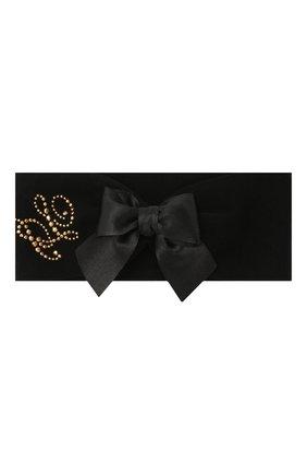 Детский комплект из пинеток и повязки LA PERLA черного цвета, арт. 48796 | Фото 2