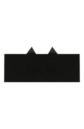 Детский комплект из пинеток и повязки LA PERLA черного цвета, арт. 48796 | Фото 3