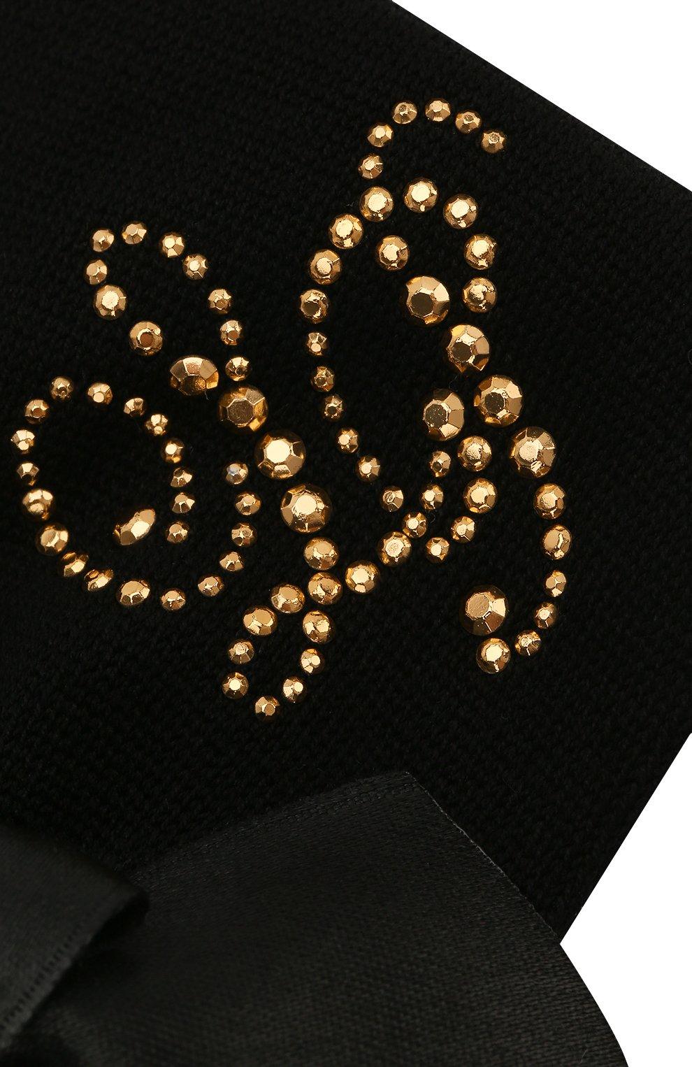 Детский комплект из пинеток и повязки LA PERLA черного цвета, арт. 48796 | Фото 4