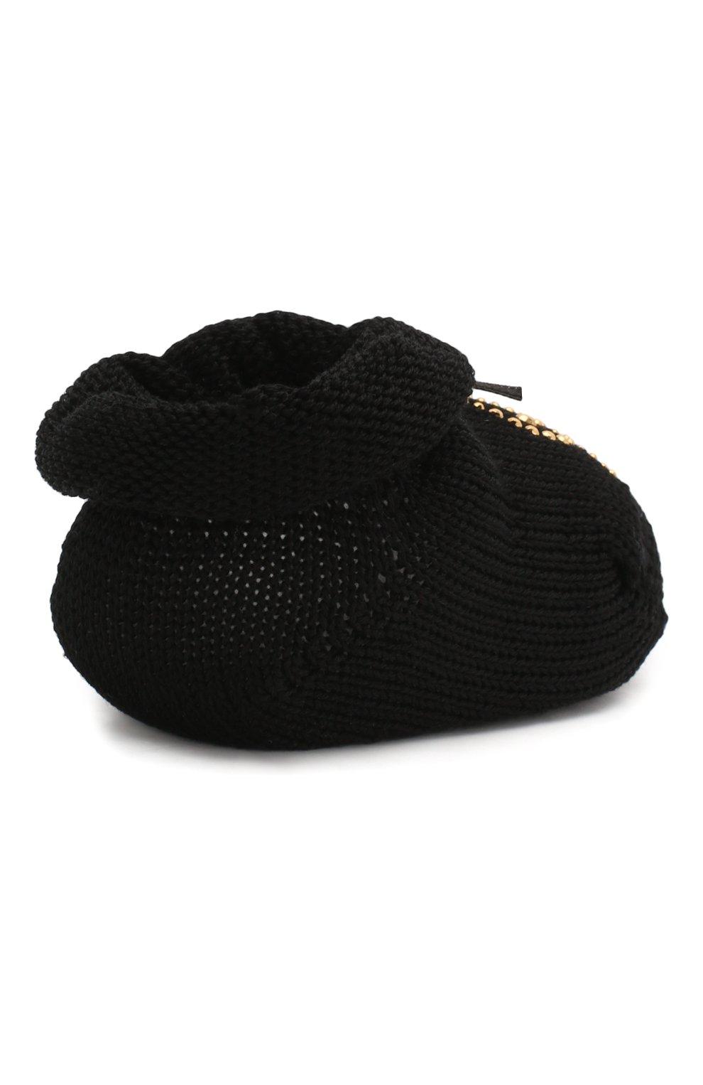 Детский комплект из пинеток и повязки LA PERLA черного цвета, арт. 48796 | Фото 7