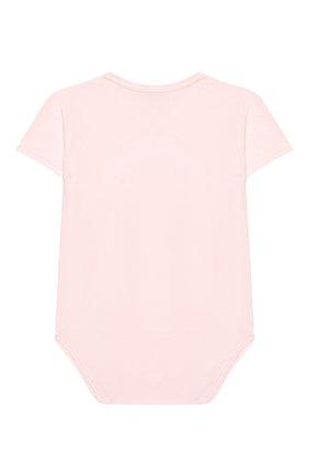 Детское хлопковое боди LA PERLA розового цвета, арт. 73081 | Фото 2