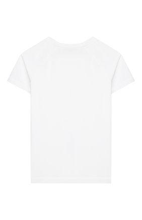 Детская хлопковая футболка LORO PIANA белого цвета, арт. FAI9442 | Фото 2