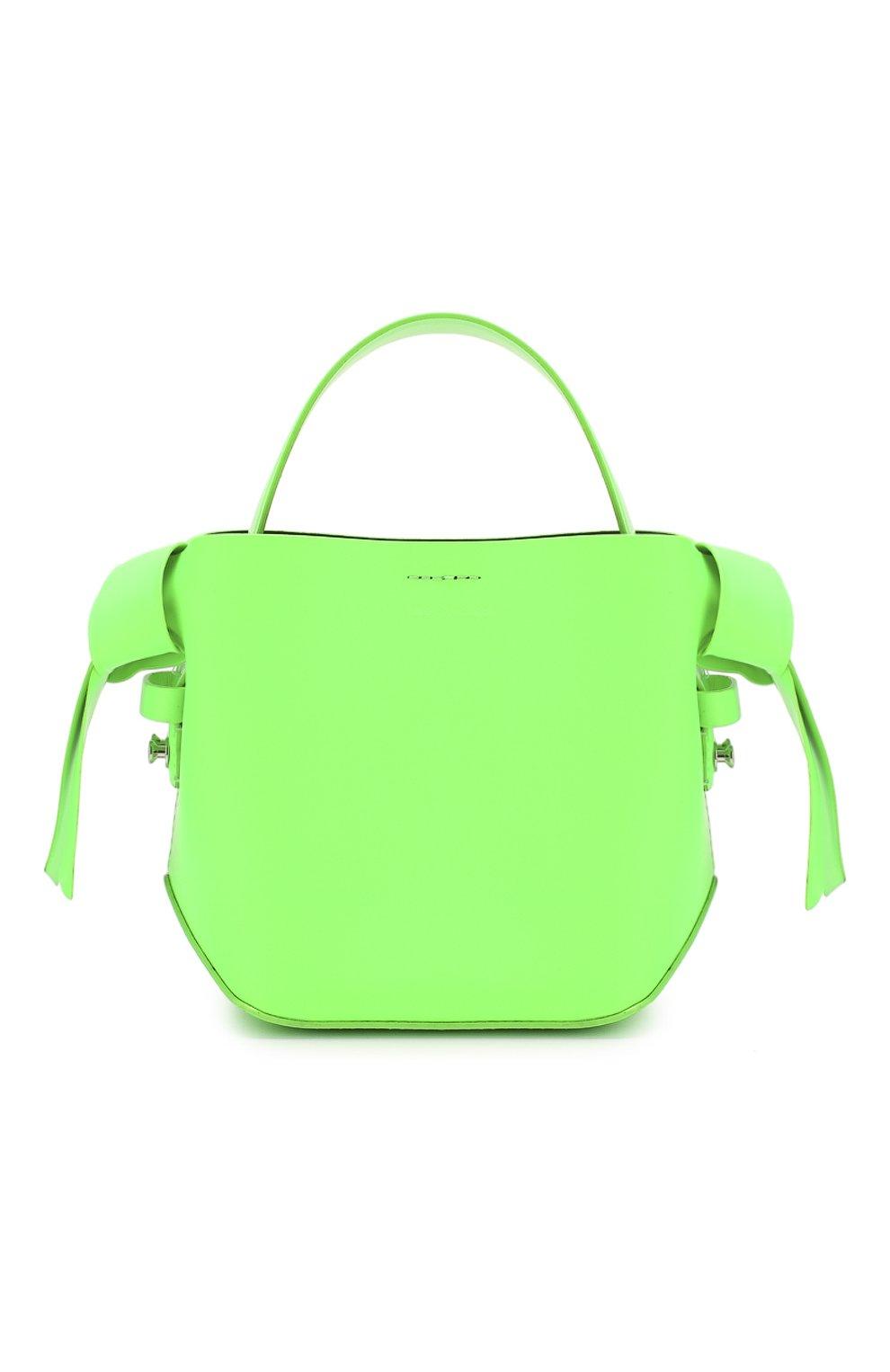 Женская сумка musubi micro ACNE STUDIOS зеленого цвета, арт. A10033/W   Фото 1
