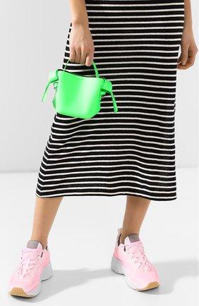 Женская сумка musubi micro ACNE STUDIOS зеленого цвета, арт. A10033/W   Фото 2