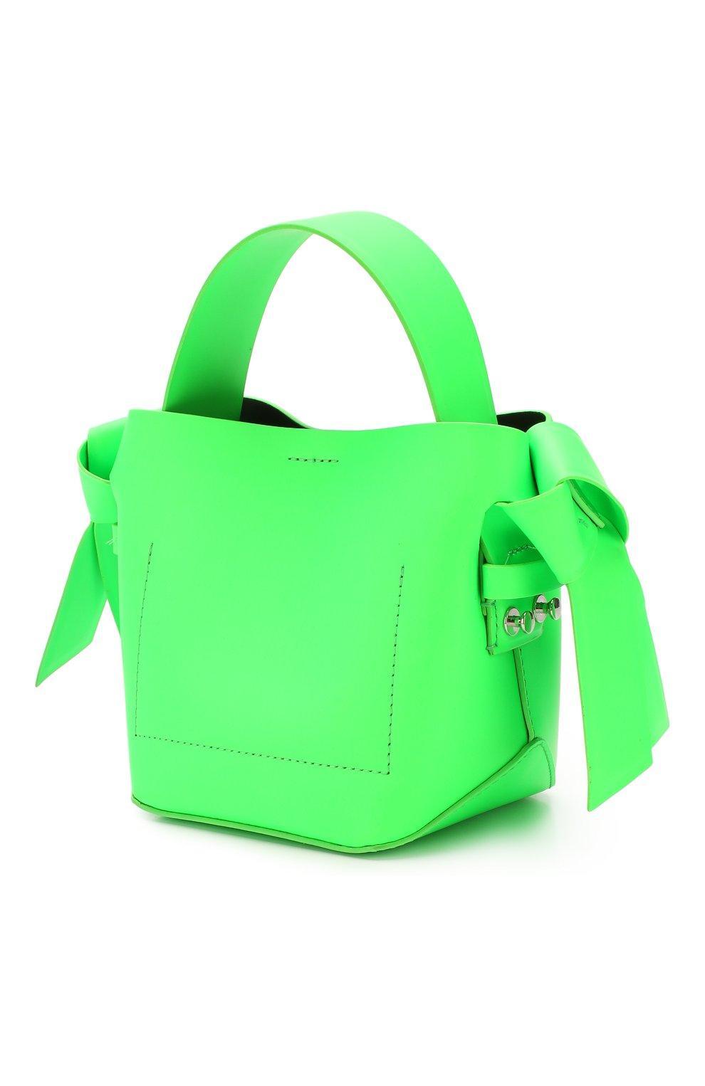 Женская сумка musubi micro ACNE STUDIOS зеленого цвета, арт. A10033/W   Фото 3