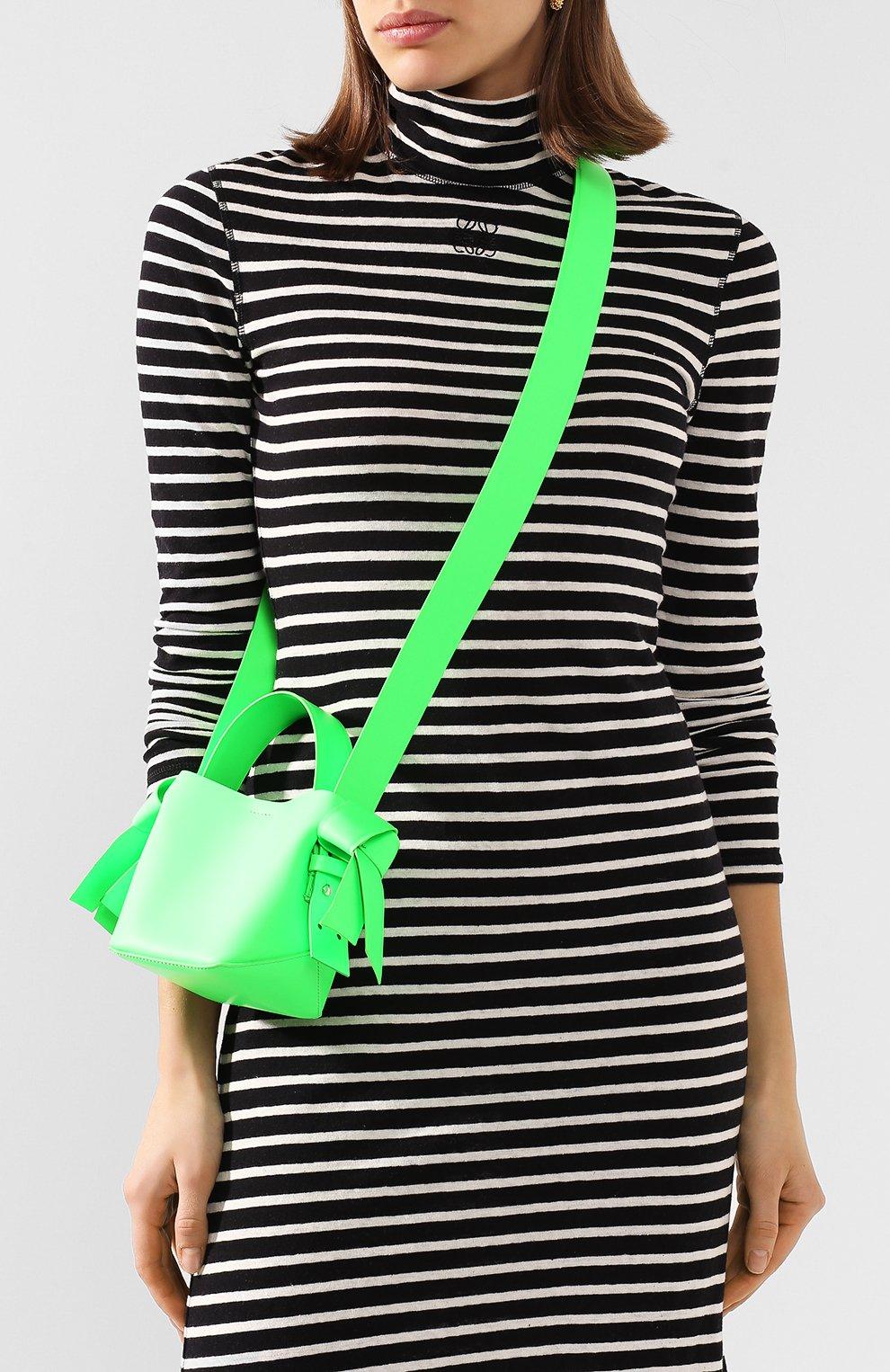 Женская сумка musubi micro ACNE STUDIOS зеленого цвета, арт. A10033/W   Фото 5