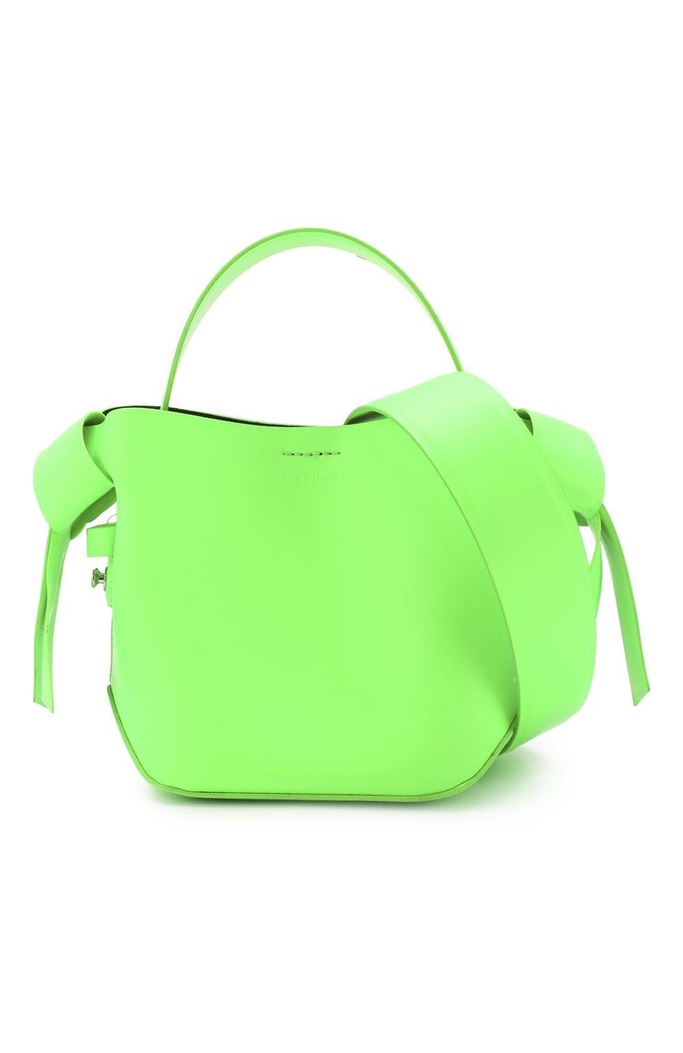 Женская сумка musubi micro ACNE STUDIOS зеленого цвета, арт. A10033/W   Фото 6