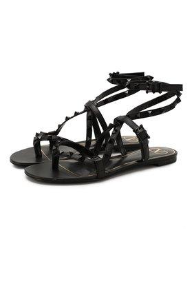 Кожаные сандалии Valentino Garavani Rockstud Flair   Фото №1