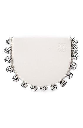 Женская сумка heel knots LOEWE белого цвета, арт. 126.54AV01   Фото 1