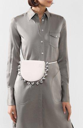 Женская сумка heel knots LOEWE белого цвета, арт. 126.54AV01   Фото 2