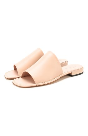 Женские кожаные шлепанцы TOD'S светло-розового цвета, арт. XXW55C0DC1000N | Фото 1