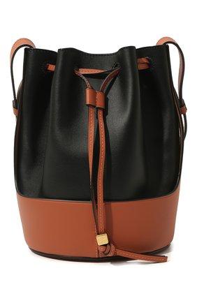 Женская сумка balloon small LOEWE черного цвета, арт. 326.76AC31 | Фото 1