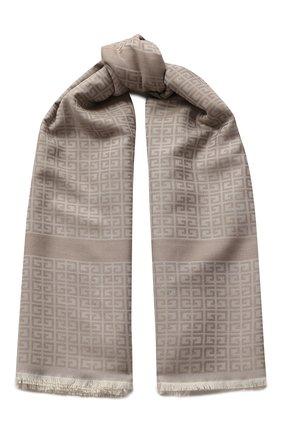 Женский платок из смеси шелка и шерсти GIVENCHY кремвого цвета, арт. GW1414/J3654 | Фото 1