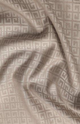 Женский платок из смеси шелка и шерсти GIVENCHY кремвого цвета, арт. GW1414/J3654 | Фото 2